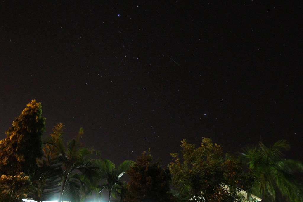 This wide-angled photo of the night sky showing the Geminids meteor, captured at around 11pm from Kampong Keriam, Tutong, on December 14. – HAZARRY BIN HAJI ALI AHMAD