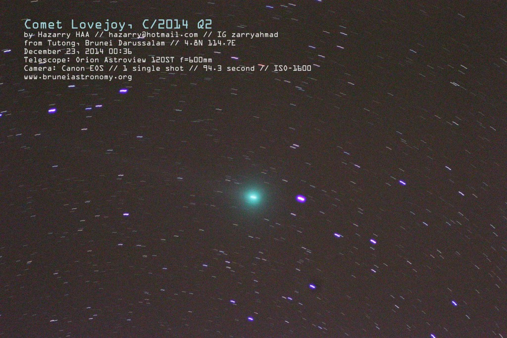 Comet Lovejoy C2014 from Brunei