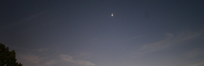 Venus-Jupiter conjunction just now at dusk.