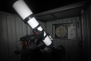 The observatory houses a 6-inch refractor on a computerized drive mount