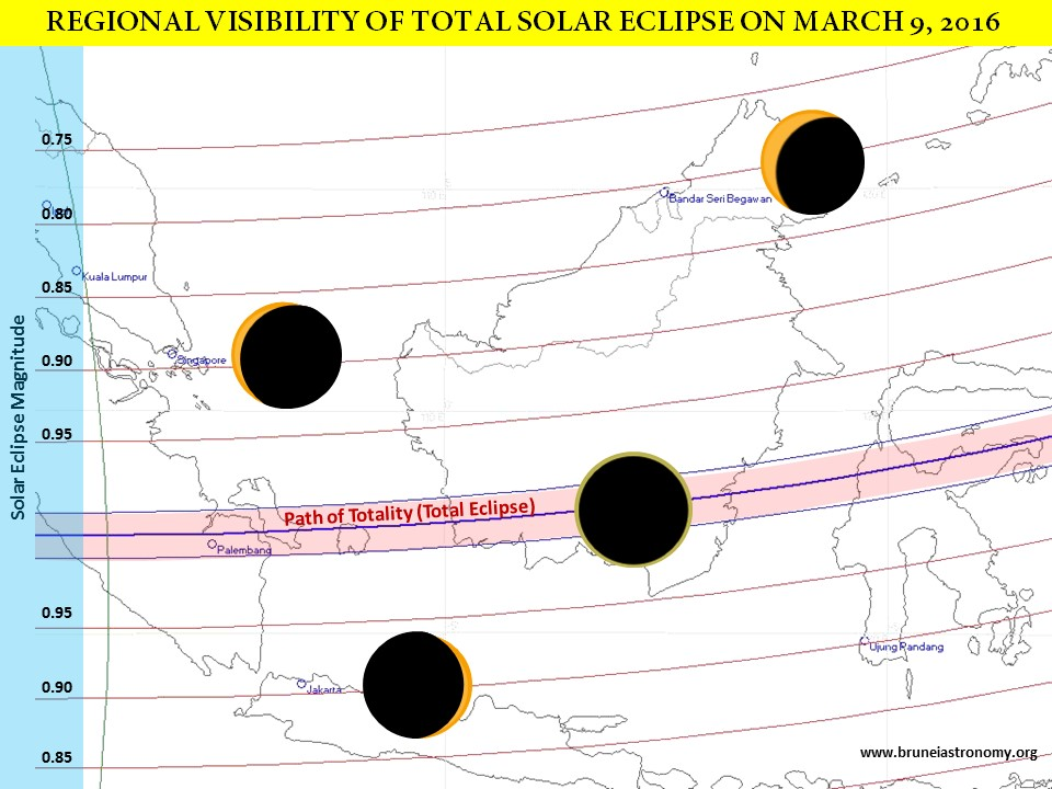 2016 March 03 Solar Eclipse Map