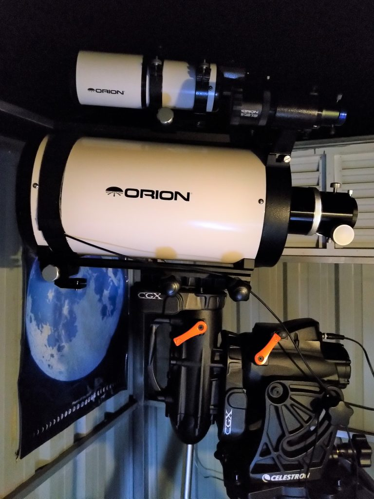 "A new Orion 8"" f/8 Ritchey-Chrétien Astrograph telescope was installed in June 2018"