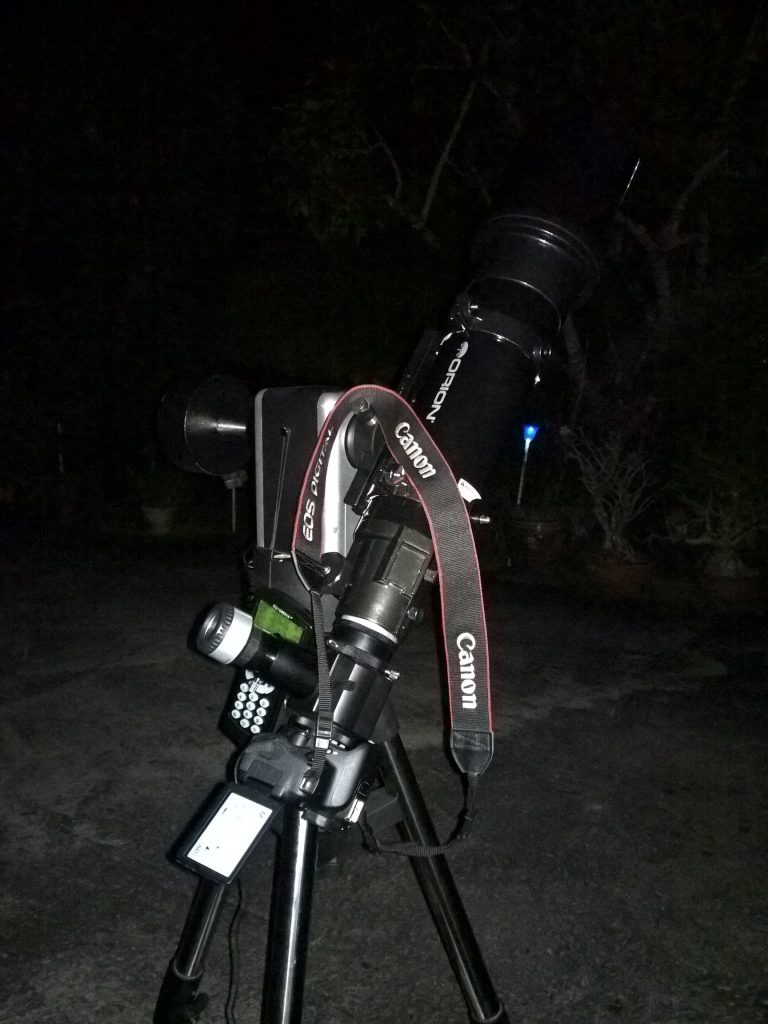 Orion Astroview 120 ST mounted on the iOprton AltAz