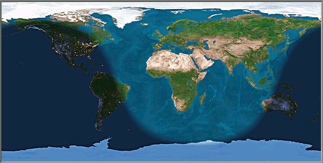 Light areas of the world  (daylight) will be able determine the Kiblat using the sun on May 28 at 5.18 pm Brunei Time.